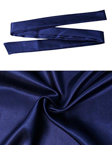 Goût Un Satinée Longue Peignoir Bleu Féminin Japon Robe Long Chemise De Satin Chambre Coquet Aibrou Nuisette Femmes Confortable Kimono Nuit xTnqSS