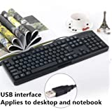 Wired Waterproof Keyboard,Applies to Desktop and Notebook,Home/Office-A