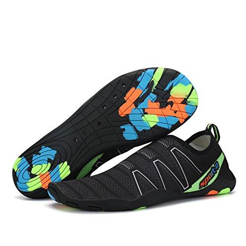 Yoga Aqua Natation Water Voovix Rapide Femme Plage Aquatiques Surf Jardin Homme Unisexe Nautisme Respirants Chaussure Noir02 Plongée pour Shoes Chaussures CBq1TCzOw