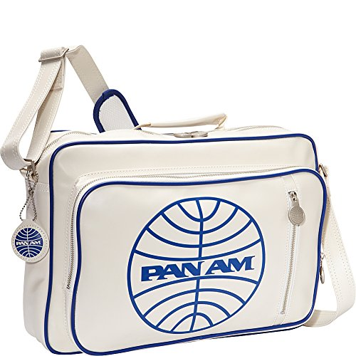 Pan Am Men's Secret Agent Bag-2, Vintage White, Medium (Am Messenger)