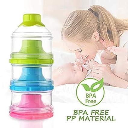 3 capas de gran capacidad Portable leche en polvo, alimento infantil ...