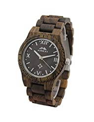 Bewell sandal Wood Watch Adjustable Red Wooden watches for Christmas gifts