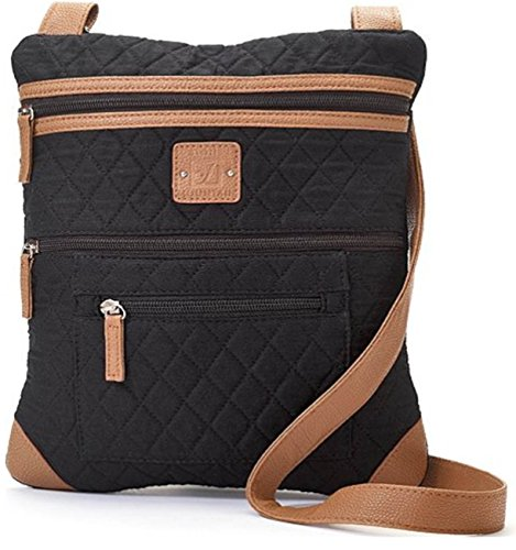 Stone Mountain Lockport Quilted Solid Handbag One Size - Quilted Bag Tan