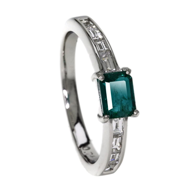 4.65g エメラルド/ダイヤモンド リング指輪 プラチナPT900 レディース (中古) B078CXTGSX