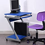 Portable Adjustable Laptop Computer Desk Stand Table(blue)