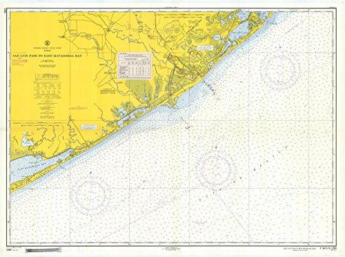 East Tx Chart (1959 Nautical Chart | Historical San Luis Pass To East Matagorda Bay | TX Vintage Map Fine Art Reproduction Print)