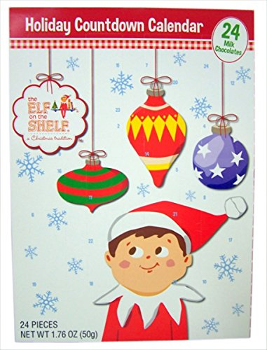 Chocolate Advent Calendar with 24 Milk Chocolates for Holiday Countdown