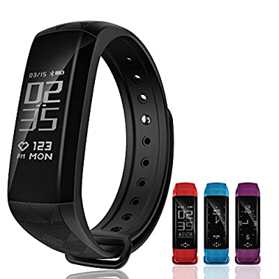 Smart Band,Sustained Heart Rate Monitor Activity Pedometer Wristband Calorie Counter Sleep Tracker Waterproof Smartwatch Wireless Bluetooth Smart Bracelet Fitness Tracker for Android and IOS