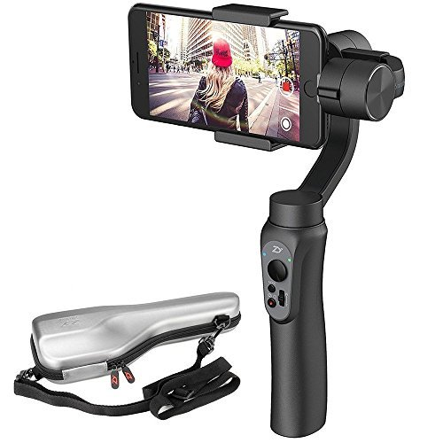 Zhiyun Smooth 4 3-Axis Handheld Gimbal Stabilizer Upgraded Phone Camera Video Mobile Filmmakers w/Focus Pull & Zoom Vertigo Shot for iPhone X 8 Plus 7 6 SE Samsung Galaxy S9+ S9 S8+ S8 S7 GoPro etc.