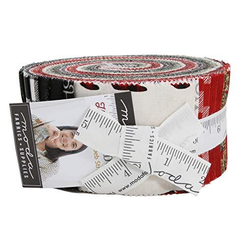 - Deb Strain Holiday Lodge Jelly Roll 40 2.5-inch Strips Moda Fabrics 19890JR