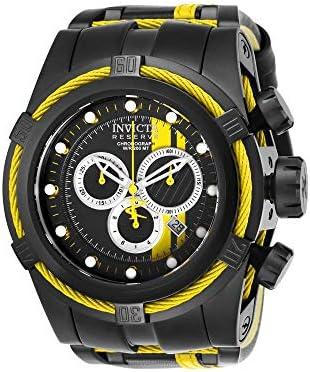 Invicta Men s 26473 Reserve Quartz Chronograph Black, Orange, Silver Dial Watch