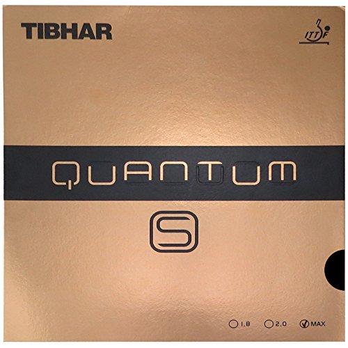 Tibhar Quantum - S Table Tennis Rubber , Black , Max by Tibha