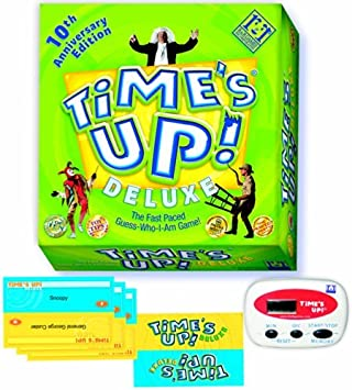 Times Up Deluxe Board Game 10th Anniversary Edition - The Fast Paced Guess Who I Am Game by R & R Games: Amazon.es: Juguetes y juegos