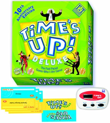Time's Up Deluxe Board Game 10th Anniversary Edition - The Fast Paced Guess Who I Am Game by R & R Games
