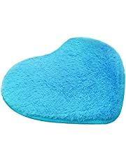 Hestio Absorbent Memory Foam Bath Floor Shower Heart Mat Rug 30X40CM