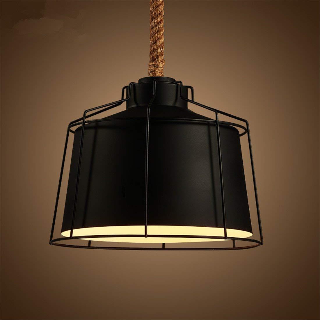 Eeayyygch Kreative Persönlichkeit Schmiedeeisen Hanf Seil Lampe, Restaurant Bar Kronleuchter Kreative (Farbe   -, Größe   -)
