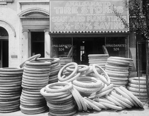 1920 Photo Amalgamated Tire Stores  Front Vintage 8X10 Photograph   Ready To Frame