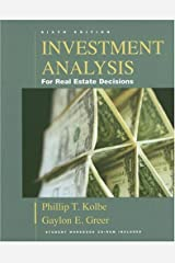 Investment Analysis for Real Estate Decisions, Sixth Edition Hardcover
