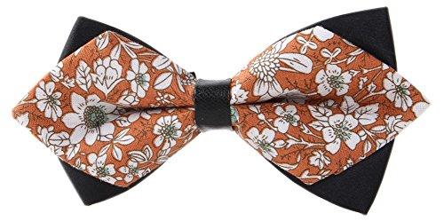 secdtie-mens-orange-cotton-floral-bow-tie-pre-tied-casual-neck-tie-bowties-11