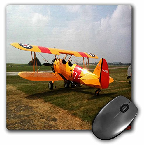 (3dRose LLC 8 x 8 x 0.25 Inches Mouse Pad, The Stearman a Pre WWII Trainer Aircraft (mp_62316_1))