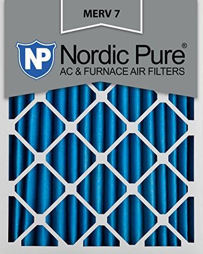 16x 25x 2m7–3MERV 7プリーツAC炉エアフィルタ、16x 25x 2、ボックスの3by Nordic Pure