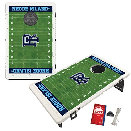 Rhode Island University of Rams Baggo Bean Bag Toss Cornhole Game Homefield Design by Victory Tailgate