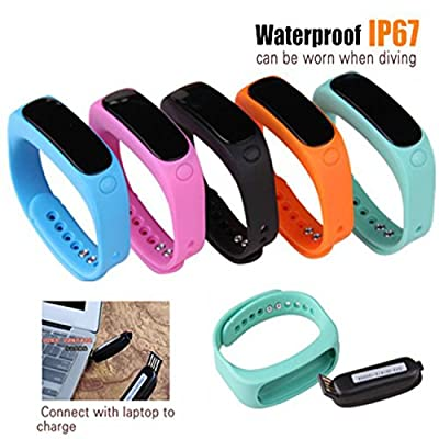 Enjoy Life with HQ E02+ (Upgrade ver) Fitness Tracker Wristband. Ext 2 Colors, Waterproof Bluetooth Smart Bracelet. Sport Tracking, FB & Twitter, iPhone & Android. Perfect 4 Christmas.Experience Now
