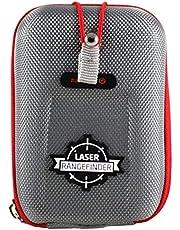 Navitech Grijs EVA-afstandsmeter Harde Koffer/Hoes Met Karabijnhaak - compatibel met de Mileseey Professional Precision Laser Golf Rangefinder