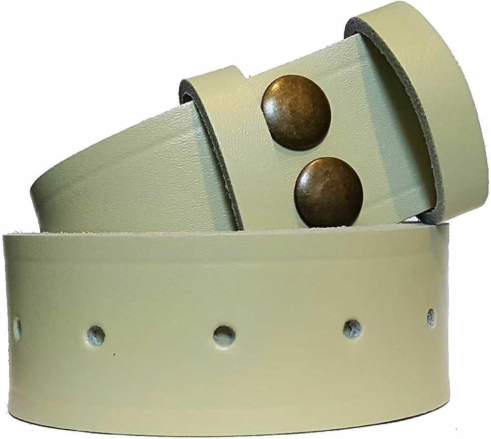 Boucle non inclus Bucklebox Ceinture en cuir avec fermeture par bouton pression