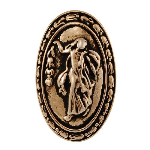 Vicenza Designs K1030P Sforza Small Base Woman Oval Knob, Large, Antique Gold