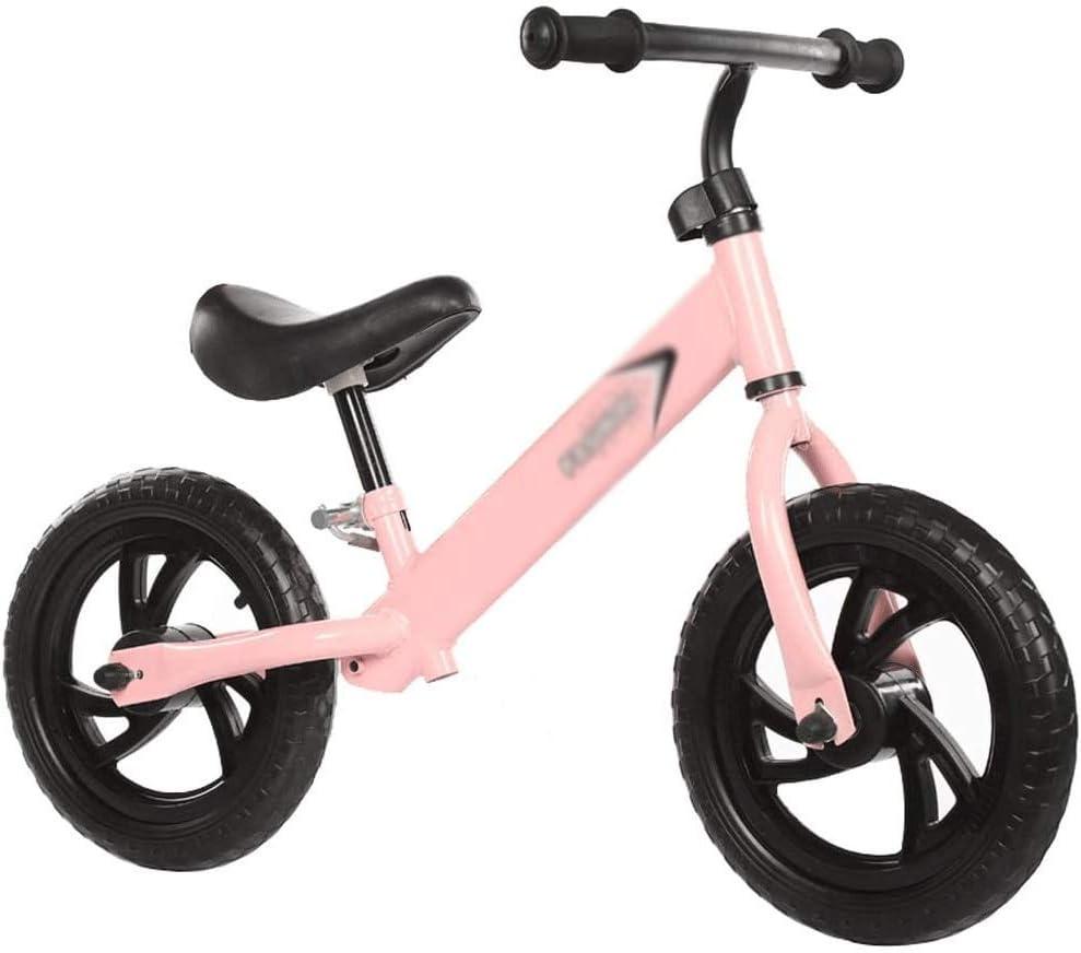 ZQY Ligera Bicicleta de Equilibrio Sin Pedal Walking Walker Scooter Sin Pedal Walker Adecuado for niños pequeños 2-6 años (Color : Pink)