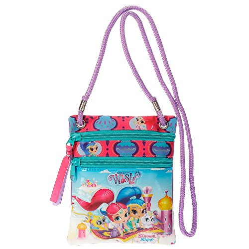 Shimmer and Shine Wish Borsa Messenger, 18 cm, 0.13 liters, Multicolore (Multicolor)