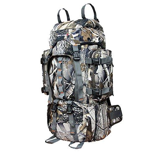 GOUQIN Outdoor Rucksack Klassische Mode Wasserdicht & Reißen Outdoor Rucksäcke 60 L Masse Klettern Taschen