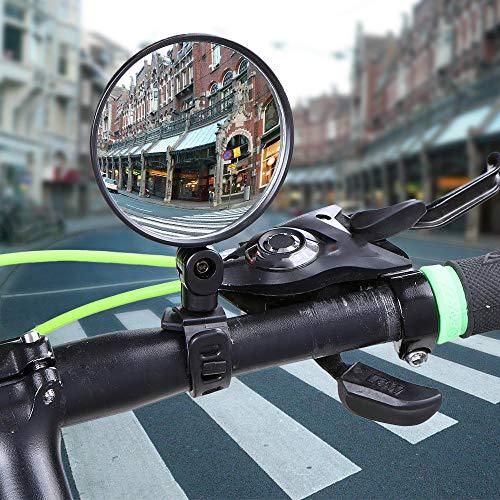 Rennrad ZEELIY Fahrradr/ückspiegel f/ür MTB Fahrrad,Rollator E-Bike Fahrrad rechts Links Lenker Bewertung 180-Grad-R/ückspiegel f/ür Mountain Road Bikes Fahrrad-R/ückspiegel Rollstuhl,Mofa