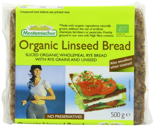 Mestemacher Organic Linseed Bread 500 g (Pack of 6)