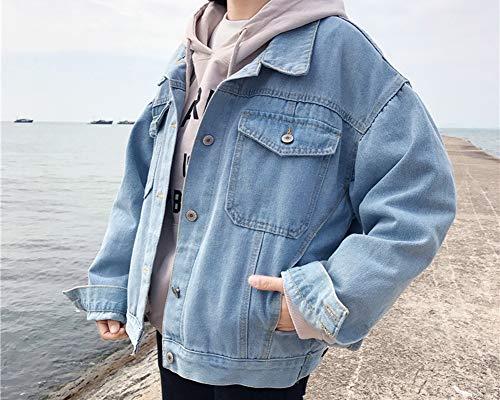 Donna Giubbino Kasen Blu Lunga Jeans Giacca Capospalla Manica Lungo drS0qBwSx