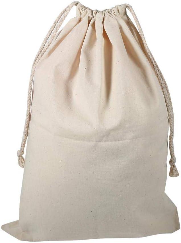 Fydun Cotton And Linen Drawstring Harness Pocket Household Plain Cotton Drawstring Storage Laundry Sack Stuff Bag 2228cm Cotton Stuff Bag