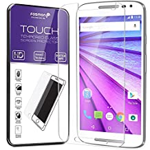 Fosmon Tempered Glass for Motorola Moto G (3rd Gen, 2015) 1 pack - TOUCH 0.26mm [ULTRA THIN | Shatter Proof | Oleophobic Coating] HD Clear Glass Screen Protector for Motorola Moto G (3rd Gen, 2015) (1 Year Warranty)