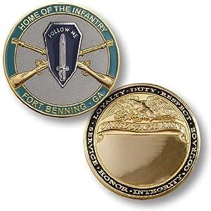 Home of Infantry, Fort Benning, GA - Engravable Challenge Coin
