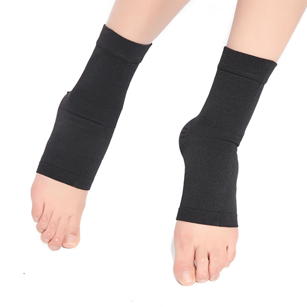Pevor Ankle Foot Brace Compression Support Sleeve for Women and Men Sprains Strain Arthritis Weak Ankles Planter Fasciitis Good Protector Sleeve Black XL