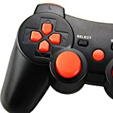 Wireless Controller for PS3, Connyam Bluetooth Double Shock Sixaxis Remote Gamepad for PlayStation 3