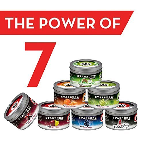 7 Packs Starbuzz Hookah Tobacco Flavors 100g, Free Shipping by starbuzz