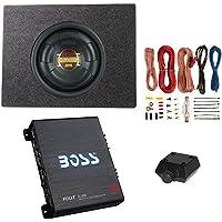 Boss 10 800W Subwoofer + Q Power Truck Enclosure + Boss 1100W A/B Amplifier