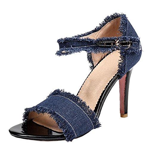 Hauts Sandales Taoffen Dark Femmes Blue Talons Sq6x6wREP