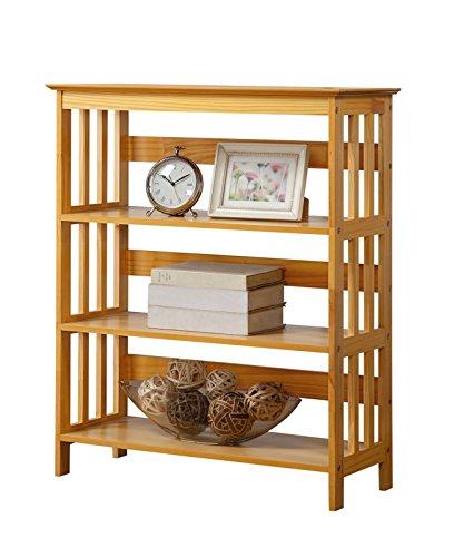 Legacy Decor Wooden Bookshelf, Bookcase, Bookshelves Oak Finish, 3 Tiers