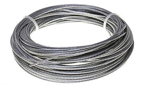 Cuerda de alambre, acero inoxidable, 3 mm de grosor ...
