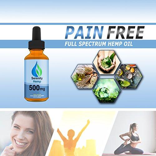 Serenity-Hemp-Oil-Lemon-Flavor-2-fl-oz-500mg-Certified-Organic-999-Pure-Full-Spectrum-Hemp-Extract-For-Pain-Stress-Anxiety