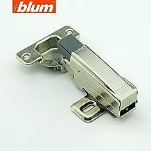 (8 Hinges PLUS 4 Dampers) Blum Clip Top 100 Degree Standard Hinge Kitchen Cabinet Cupboard Door Hinge with External Self-closing Mechanism 71M2550, Full Overlay Hinge, Buffering Hinge, Made in Austria