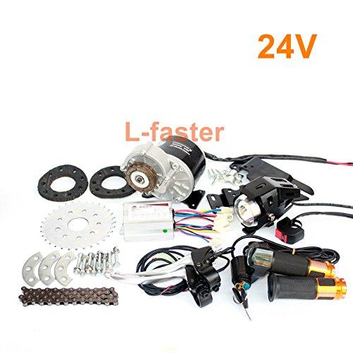 L-高速350ワットモータキット用バイクホイールスポーク最新変換キット用速ギアバイク経済的な変換電気都市バイク [並行輸入品] B076D6R6LK 24V Twist Kit 24V Twist Kit