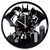 Welcome Everyday Arts Batman with Superman Design Vinyl Record Wall Clock - Get unique living room wall decor - Gift ideas for boys and girls – DC Comics Heroes Unique Modern Art